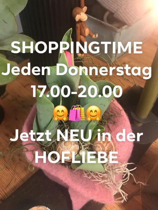 Shoppingtime jeden Donnerstag in der HOFLIEBE in Bleckede-Walmsburg